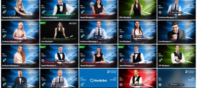 Nordicbet – Ett bra casino med blackjack